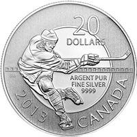 2013 Hockey $20 for $20 Silver Coin