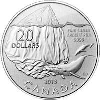 2013 Iceberg $20 for $20 Silver Coin