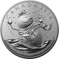 2014 Snowman 20 For 20 Silver Coin Mintage Photos