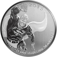 2015 Superman $20 for $20 Silver Coin
