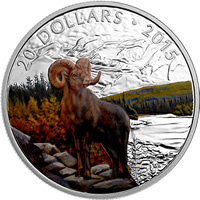 2015 Big Horned Sheep $20 Commemorative Silver Coin