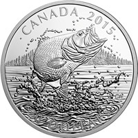2015 Largemouth Bass $25 Commemorative Silver Coin
