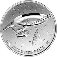 2016 Star Trek Enterprise $20 for $20 Silver Coin