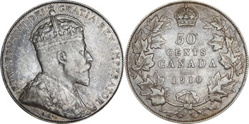 Edward VII Fifty Cent / Half Dollar