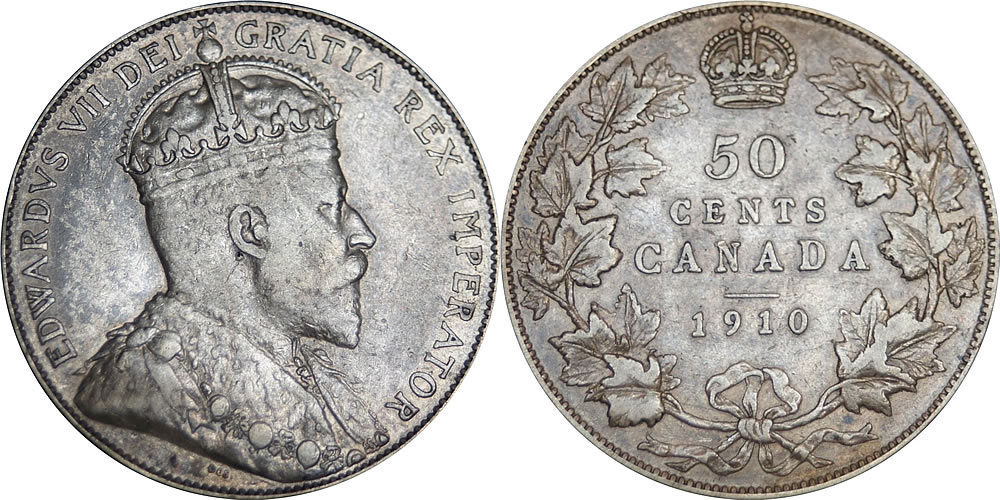 Edward VII Fifty Cents - Half Dollar