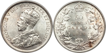 George V Fifty Cent / Half Dollar