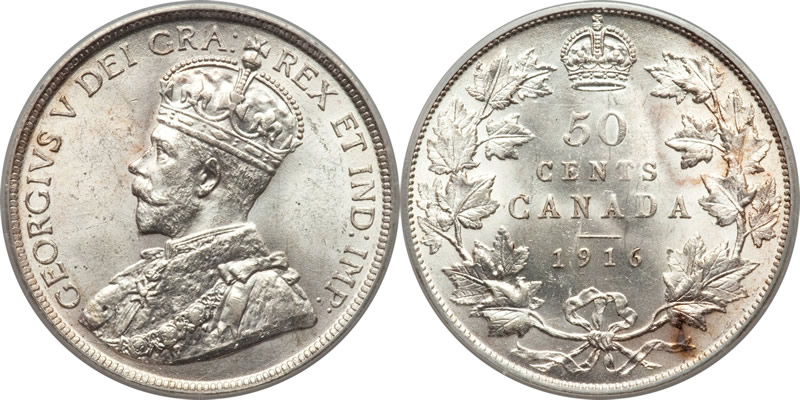 George V Fifty Cents - Half Dollar