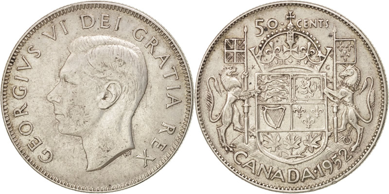 George VI Fifty Cents - Half Dollar