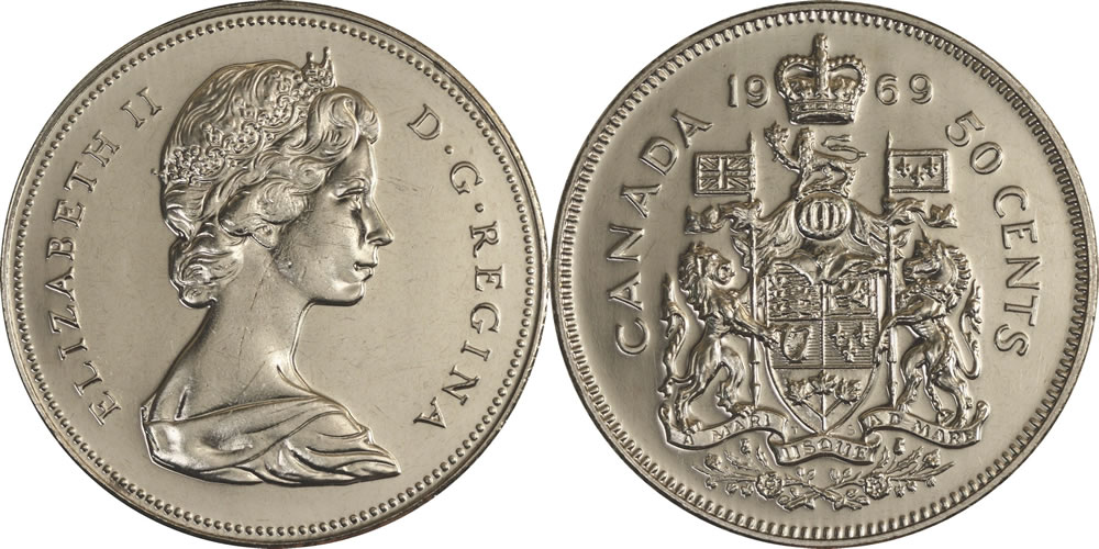 Elizabeth Ii Fifty Cents Half Dollar Photos Mintage