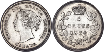 1884 Victoria Five Cent / Nickel