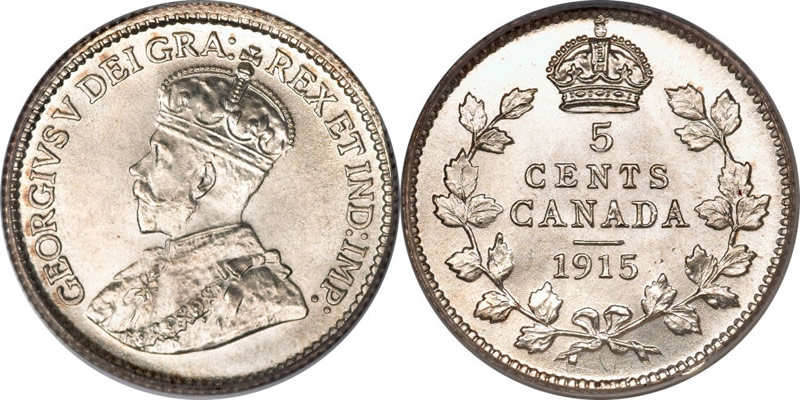 George V Five Cent - Nickel