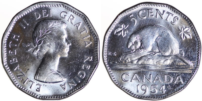 Elizabeth II Five Cent - Nickel