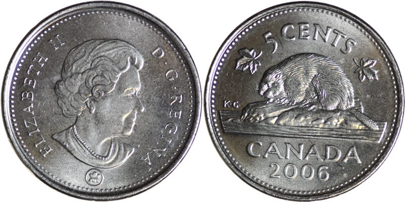 2006 Elizabeth II Five Cent - Nickel