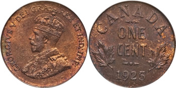 1925 George V Small Cent