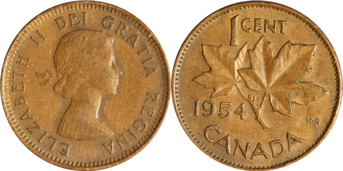 1954 Elizabeth II Small Cent