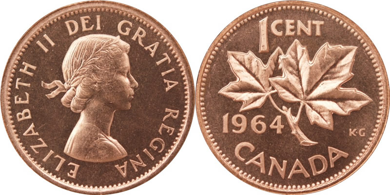 1964 Elizabeth II Small Cent Mintage, Photos, Specifications