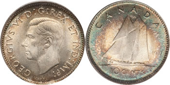 George VI Ten Cent / Dime