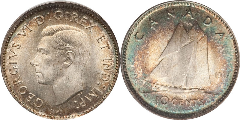George VI Ten Cent - Dime