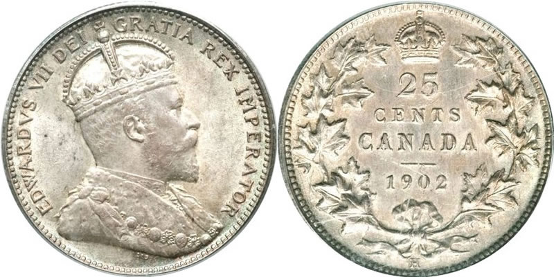 Edward VII Twenty Five Cent - Quarter