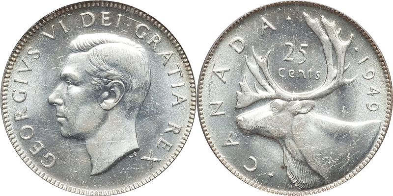 Grading George VI Twenty Five Cent
