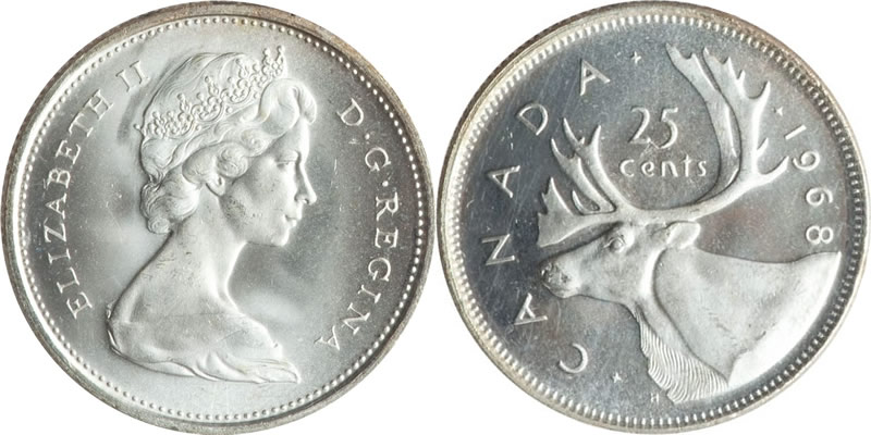 Elizabeth II Twenty Five Cent - Quarter
