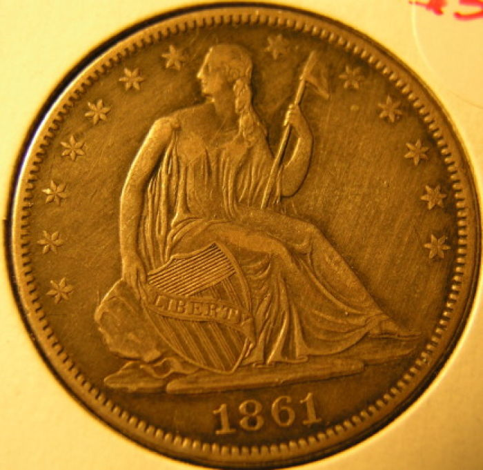 1861 o half dollar die crack dime