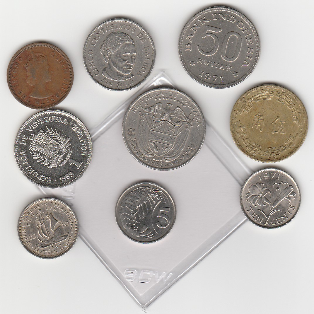 many coins from all - photo #12