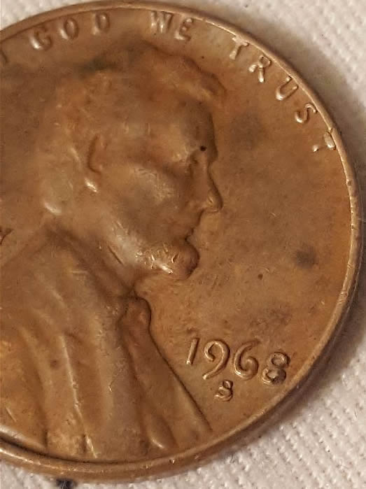 1968 S Penny Double Die Or Machine Doubling