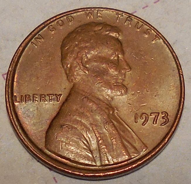 1973 P Lincoln Cent Tilted Die Coin Community Forum