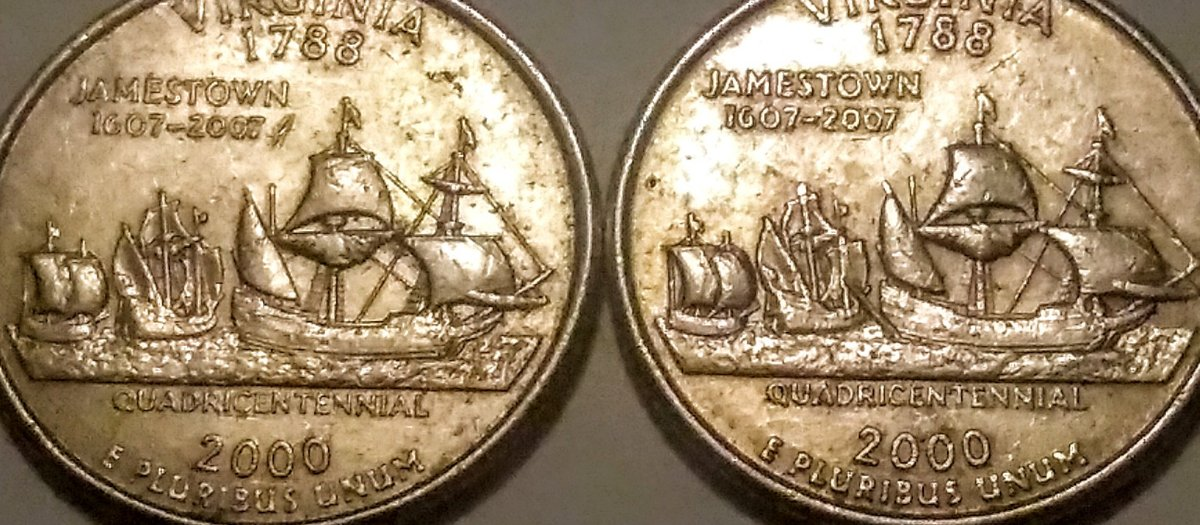 Extra Mast on 2000 P Virginia State Quarter - Coin Community