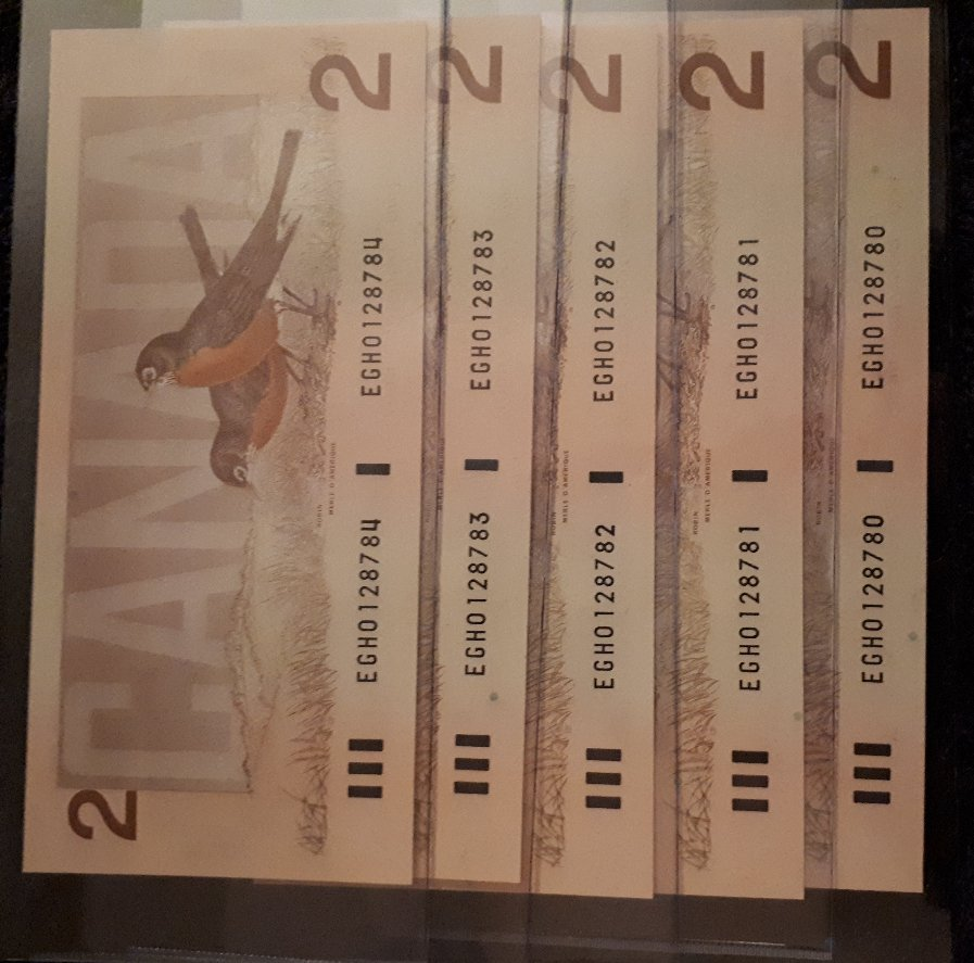 dollar bills with consecutive serial numbers value