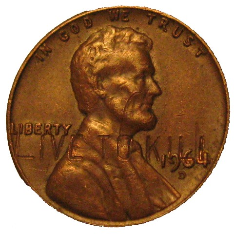 1964 Penny Quot Live To Kill Quot Stamp Coin Community Forum