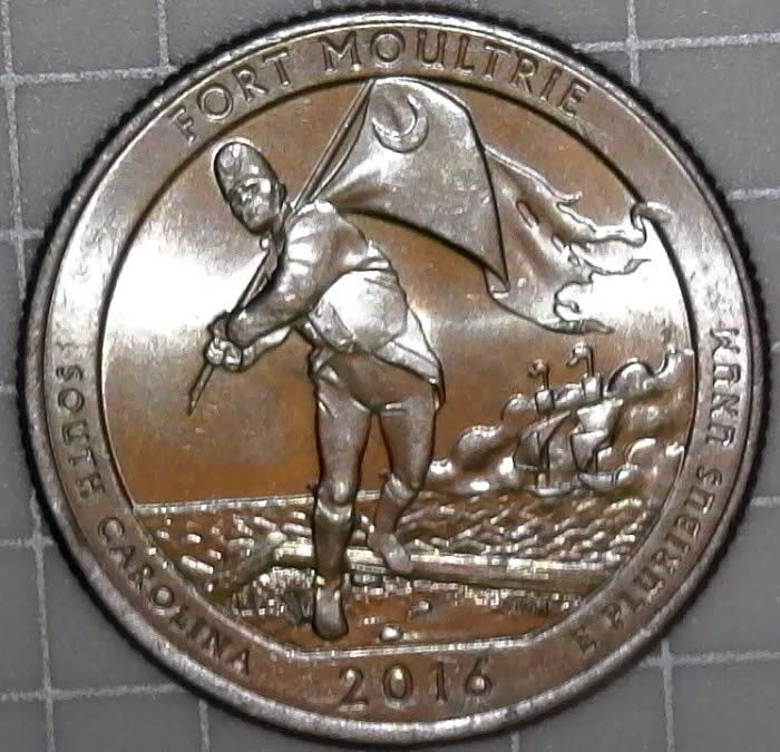 2016 P Quarter Sc Fort Moultrie With Unlisted Doubled Die