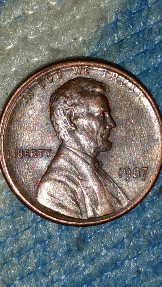 1987 Penny Error Is This An Offset Their Is 3 Different Layers Of Rim Coin Community Forum