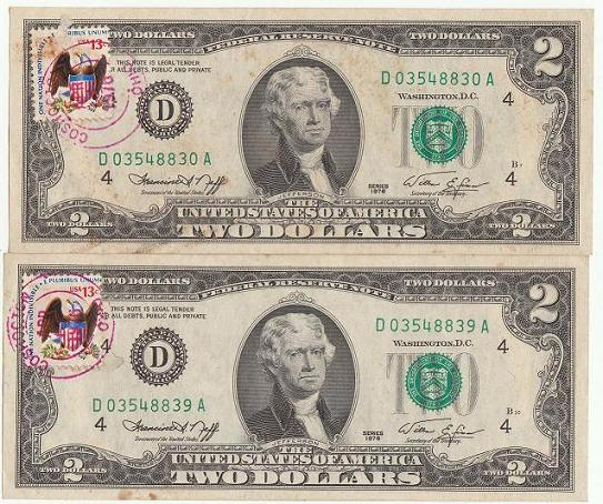 What Does First Day Of Issue On My Two Dollar Bill Mean