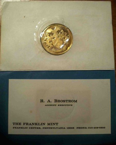 Franklin mint business card coin origin coin community forum moved by staff to a more appropriate forum colourmoves