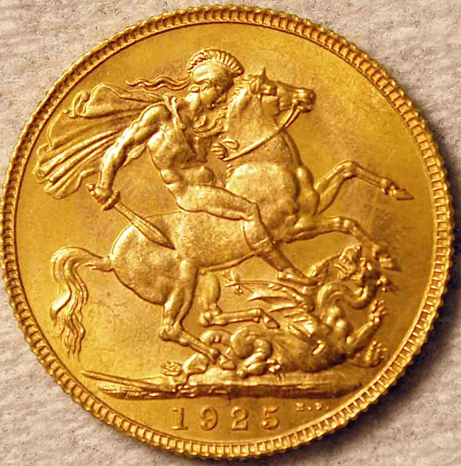 1925 British Sovereign Grade Quality Value Coin