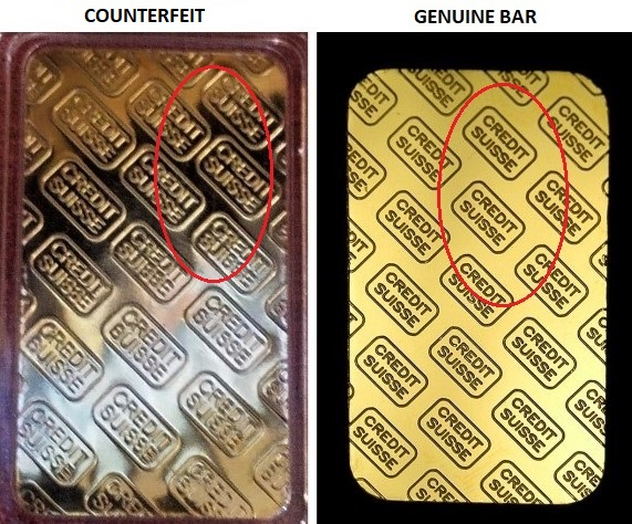 How To Spot A Fake Credit Suisse Gold Bar Credit Walls