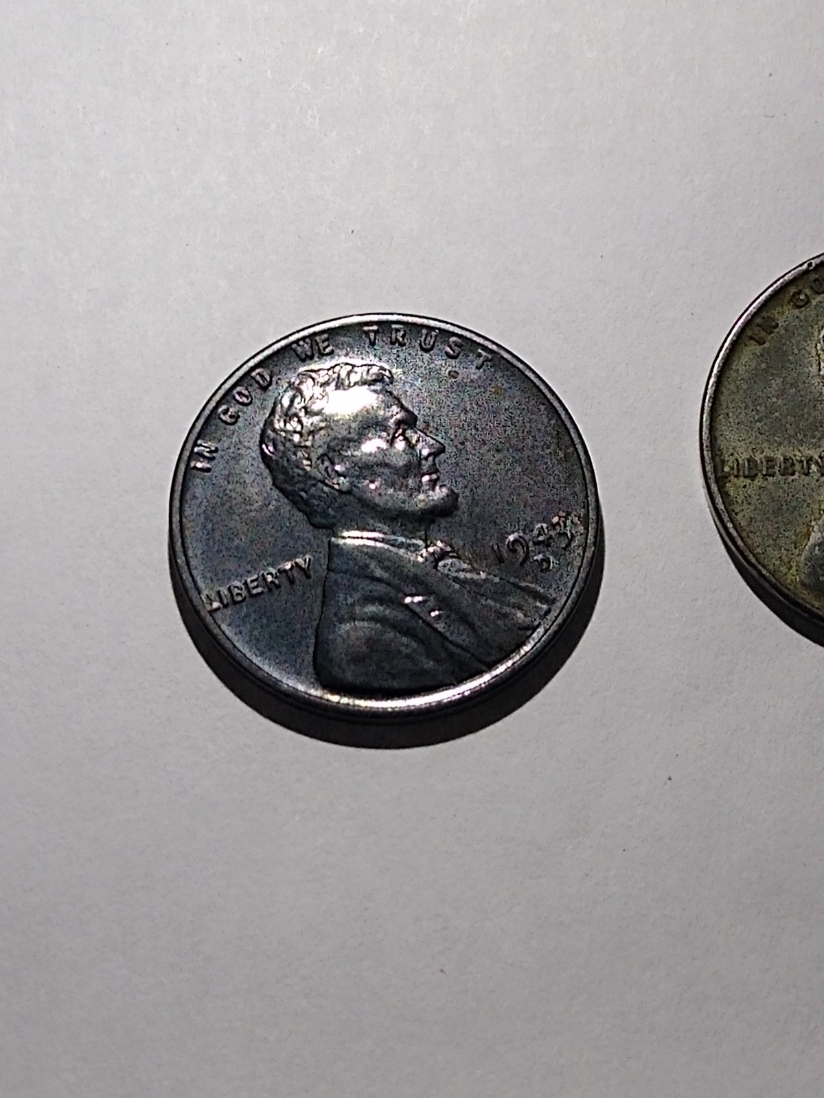 1943 d steel penny toning or? - Coin Community Forum