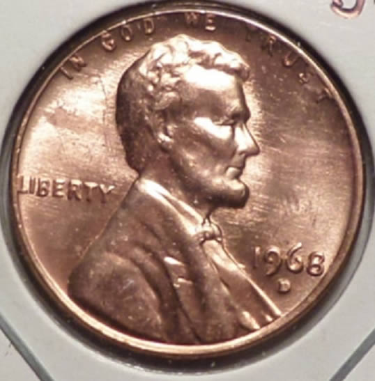 1968-D Lincoln Doubled Die Reverse / DDR FS 801 - Coin