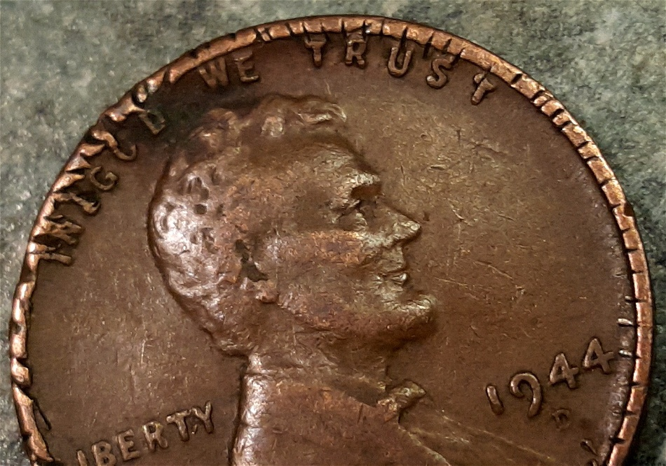 1944 D wheat penny error or damage? - Coin Community Forum