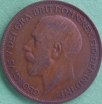 Grade And Value For This 1921 England Penny Coin