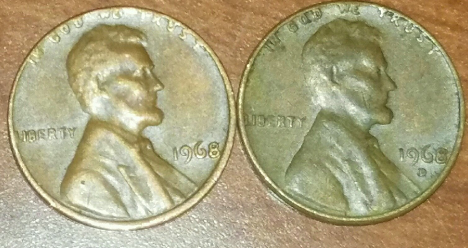 Came across this 2 1968 pennies looks like the