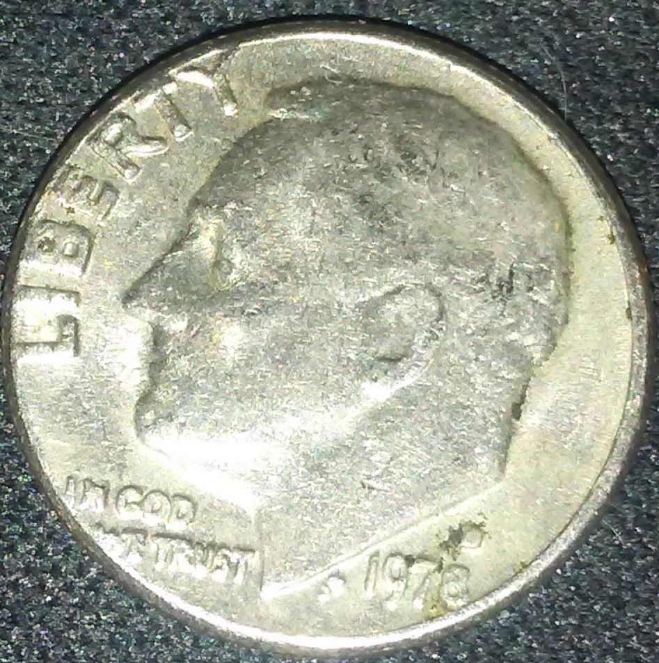 need some help on this 1978 roosevelt dime error or wear and tare