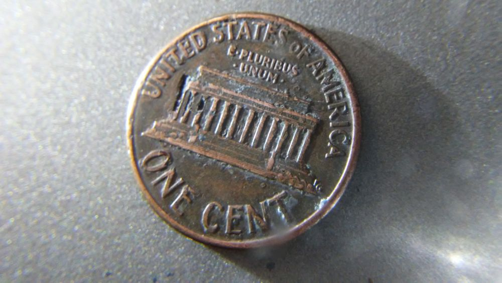 1990 D Lincoln Penny With Deterioration and Double Die  Any