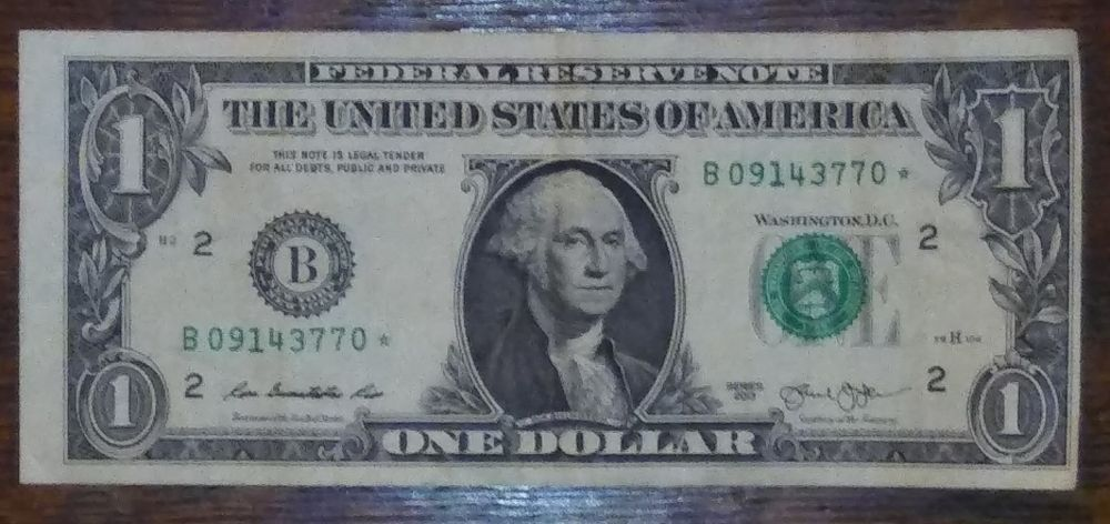 2013 $1 star note error? - Coin Community Forum