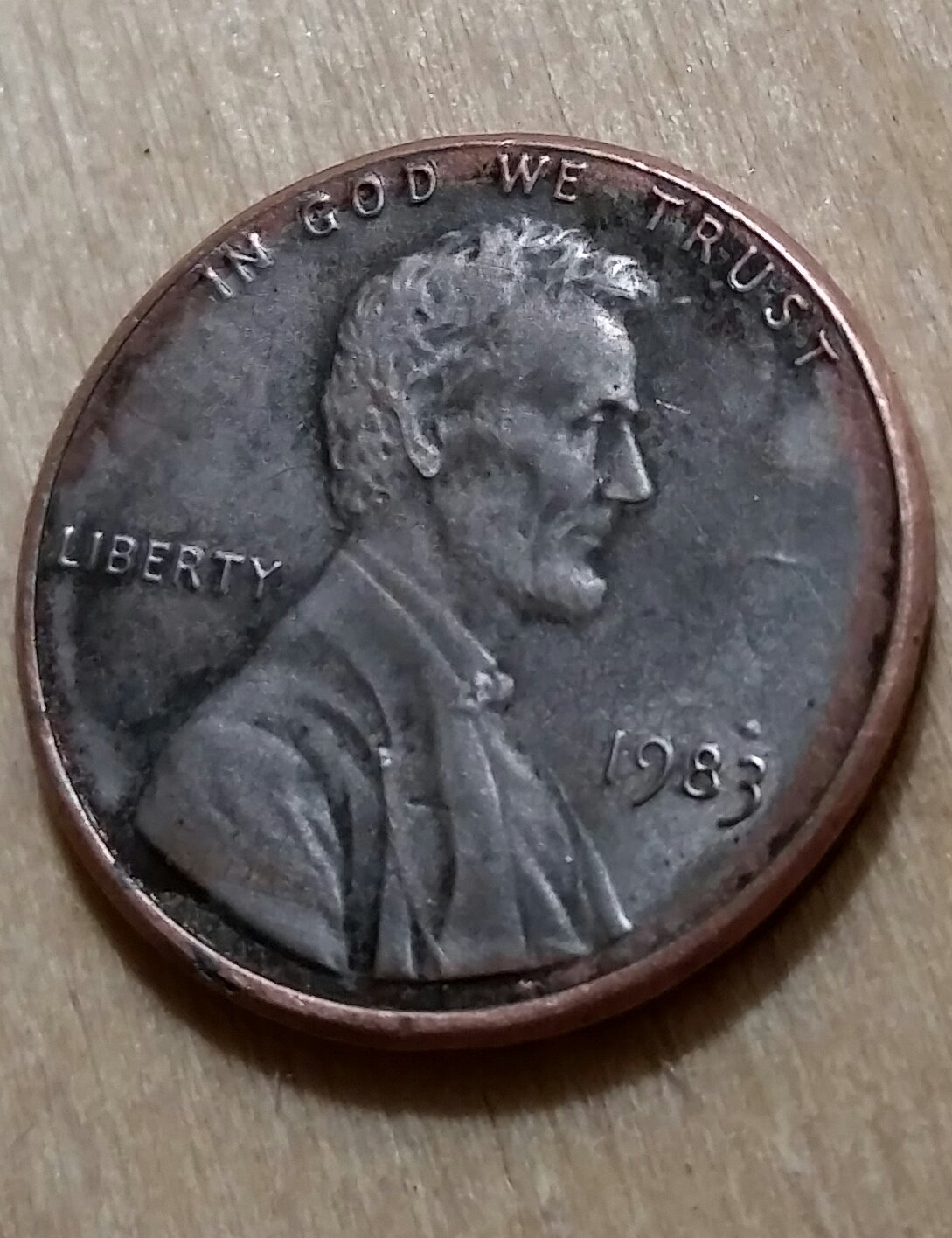 1999 Lincoln penny, Plain zinc, no copper layer? Very smooth  - Coin