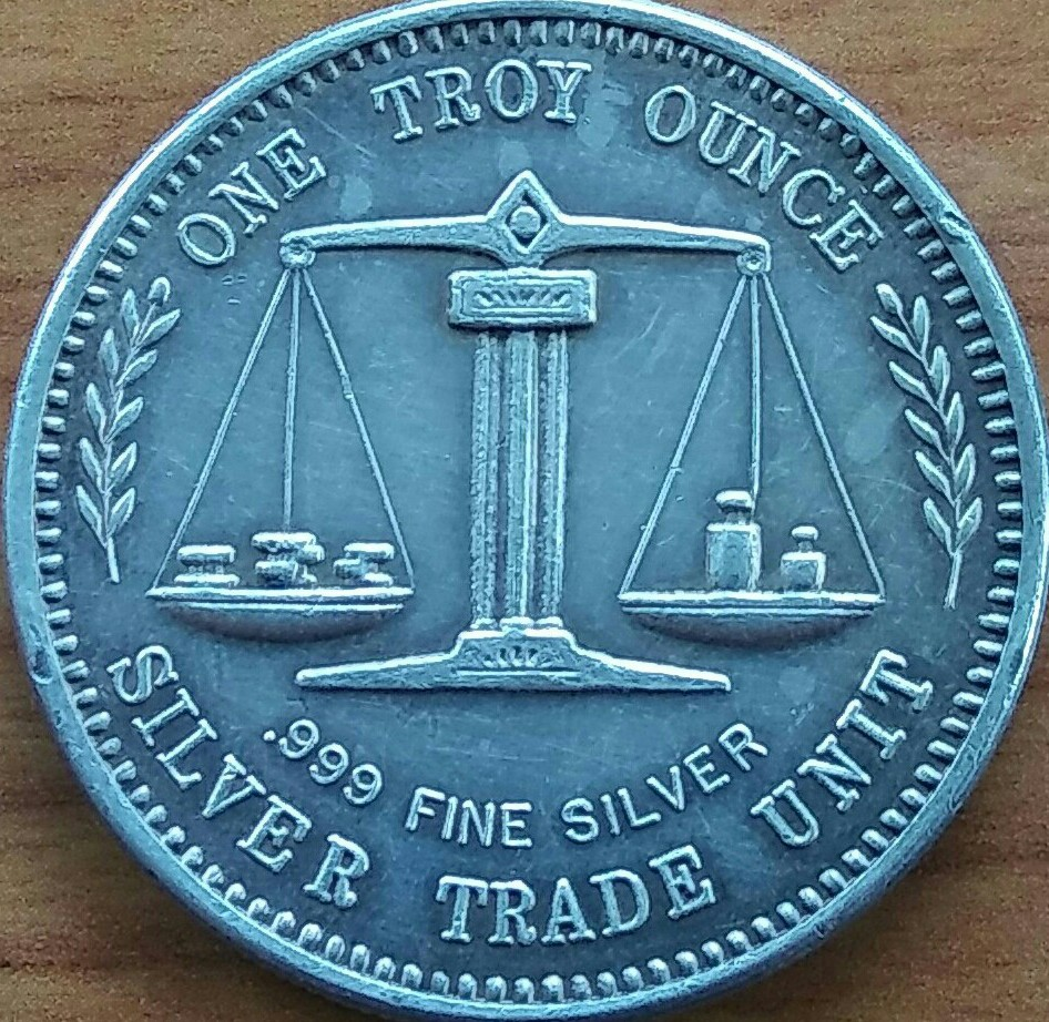 One Troy Ounce Silver Trade Coin