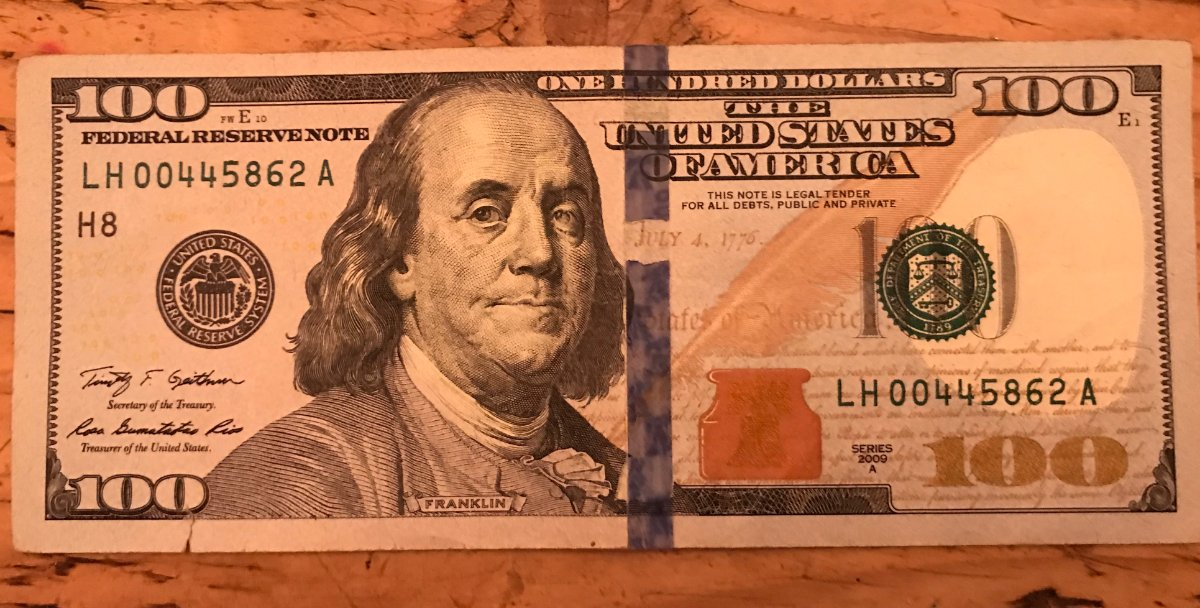 2009a $100 Note With Blue Security Strip Error - Coin