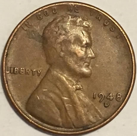 BU wheat penny from a nice roll 1948 P  LINCOLN CENT